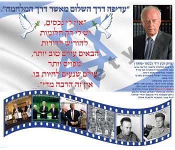 כרזה  יצחק רבין