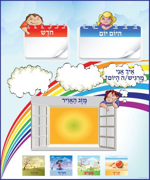 לוח מזג אויר-מחיק לחטיבה צעירה עברית