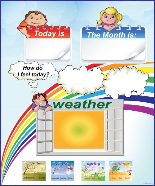 לוח ימים ומזג האויר-מחיק באנגלית